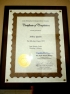 Certificate of Completion for Jodo Shinshu Correspondence Course
