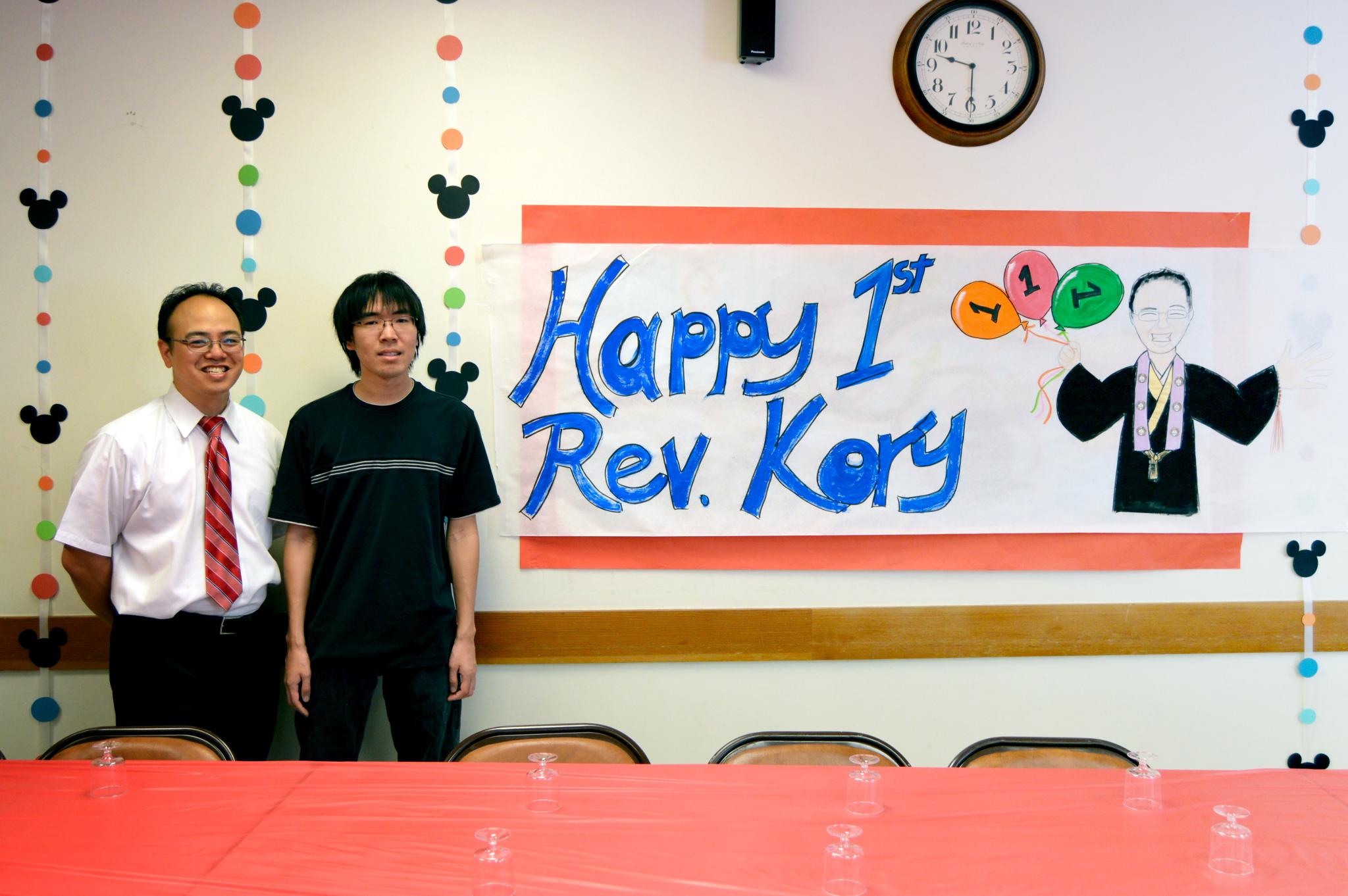 Rev. Kory's 1 Year Anniversary