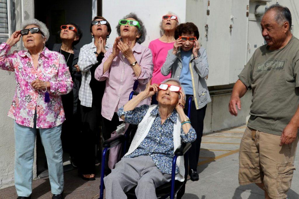 Enjoying the Eclipse