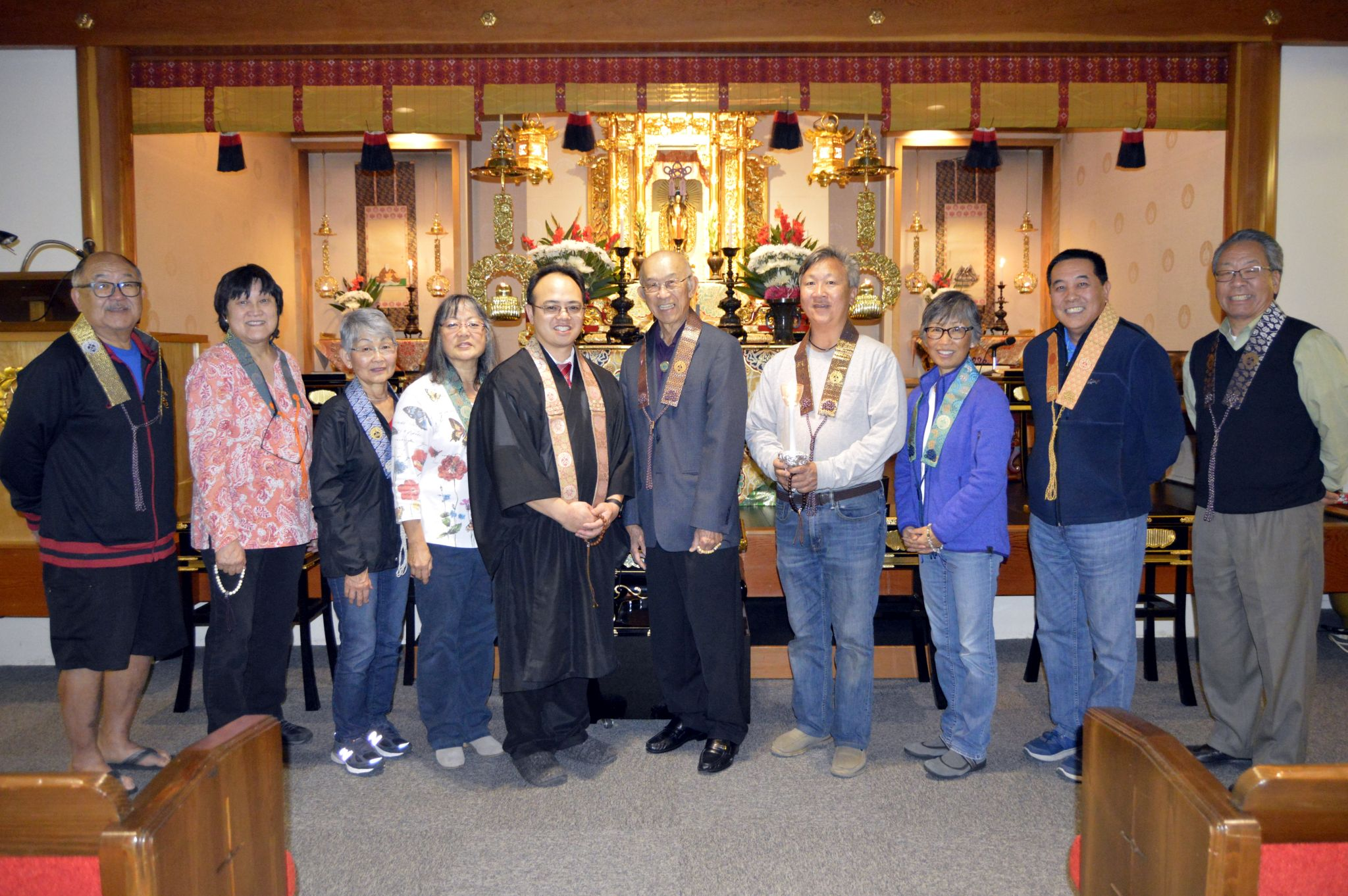 Installation of Temple Board on Jan. 5, 2018
