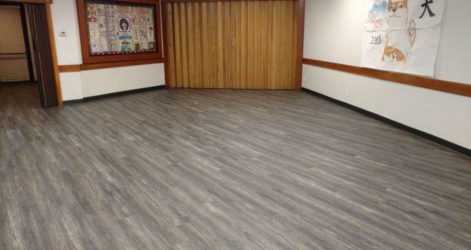 New Flooring in Social Hall